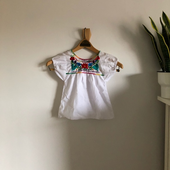 Shirts Tops Authentic Mexican Embroidered White Blouse Poshmark